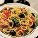 Lemon Salmon Linguini