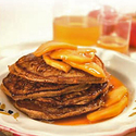Apple Cinnamon Cornmeal Pancakes